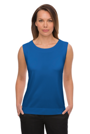 City Collection Smart Knit Top Sleeveless - Womens