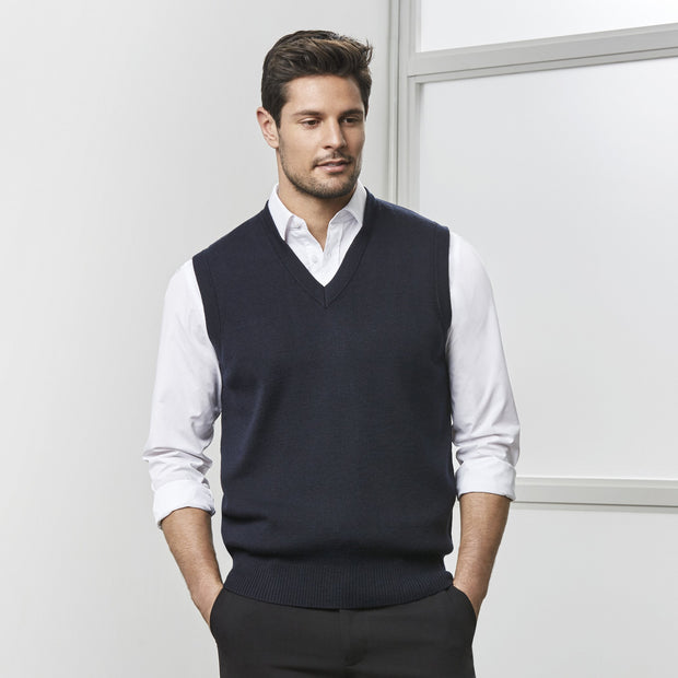 Biz Collection Woolmix Vest - Mens