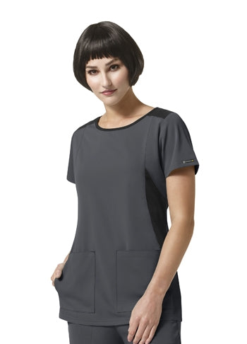 Wonderwink HP Neo Boat Neck Top - Womens