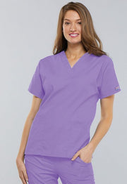 Cherokee Workwear V Neck Top - Womens