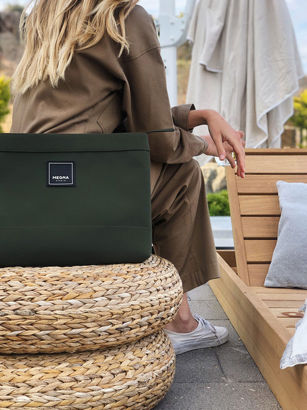 Cora Clutch • Petrol Green