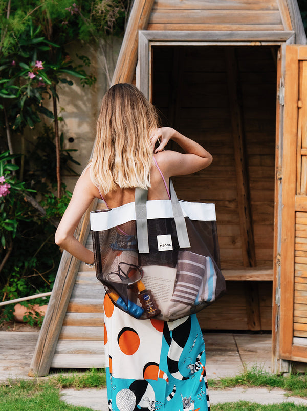 Grace Beach Bag • Horizontal • BROWN