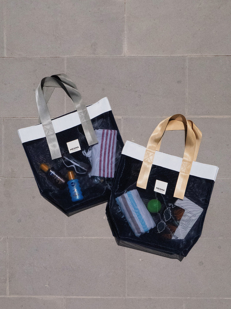 Grace Beach Bag • Vertical • NAVY BLUE