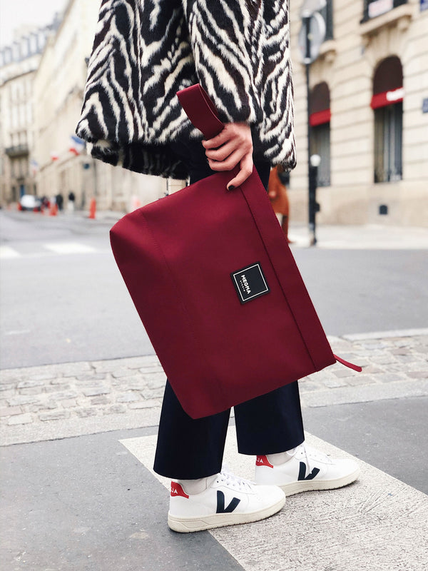 Cora Clutch • Wine Red