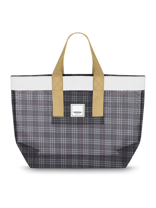 Grace Beach Bag • Horizontal • PLAID