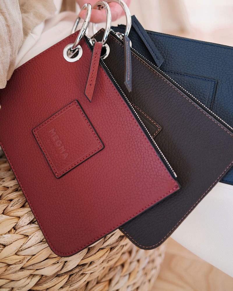Nina Money Pouch • Wine Red