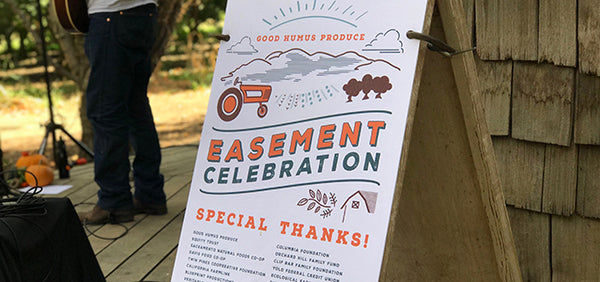 Sign at Easement Celebration thanking partners