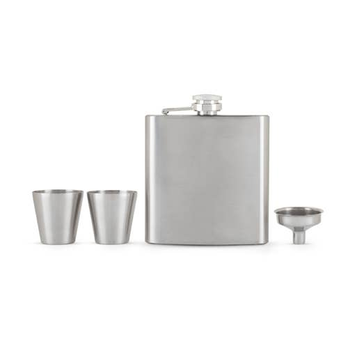 TRUE - Fiasco Flask And Shot Glass Gift Set by True