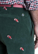 Load image into Gallery viewer, Embroidered Corduroy Holiday Pants