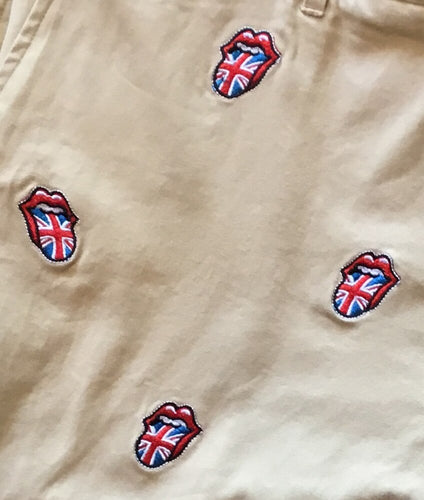Embroidered Shorts with Stones UK Tongue