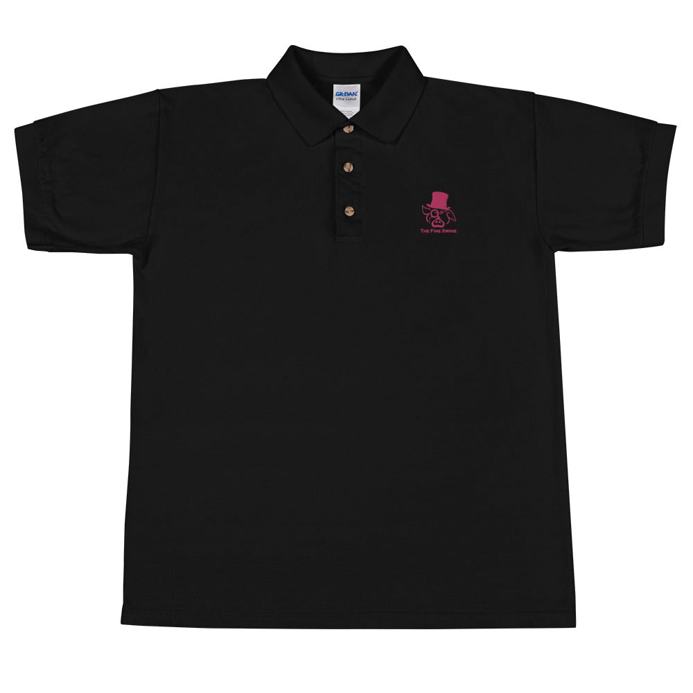 The Fine Swine Embroidered Polo Shirt