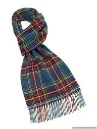 Edinburgh Pattern Scarf - Merino Lambswool - Made in England