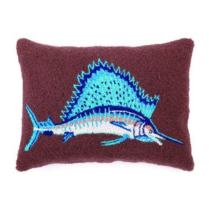 Hand Hooked Pillow-Beach Theme