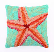 Load image into Gallery viewer, Hand Hooked Pillow-Beach Theme