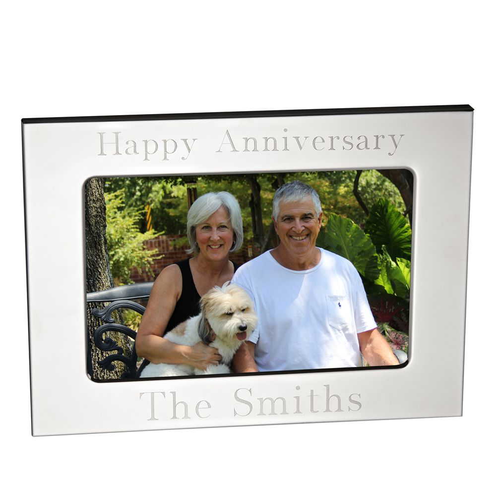 Engraved Silverplate Picture Frame