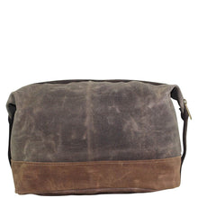Load image into Gallery viewer, Waxed Cotton Top Zip Dopp Kit