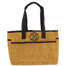 Load image into Gallery viewer, Waxed Cotton Utility Tote