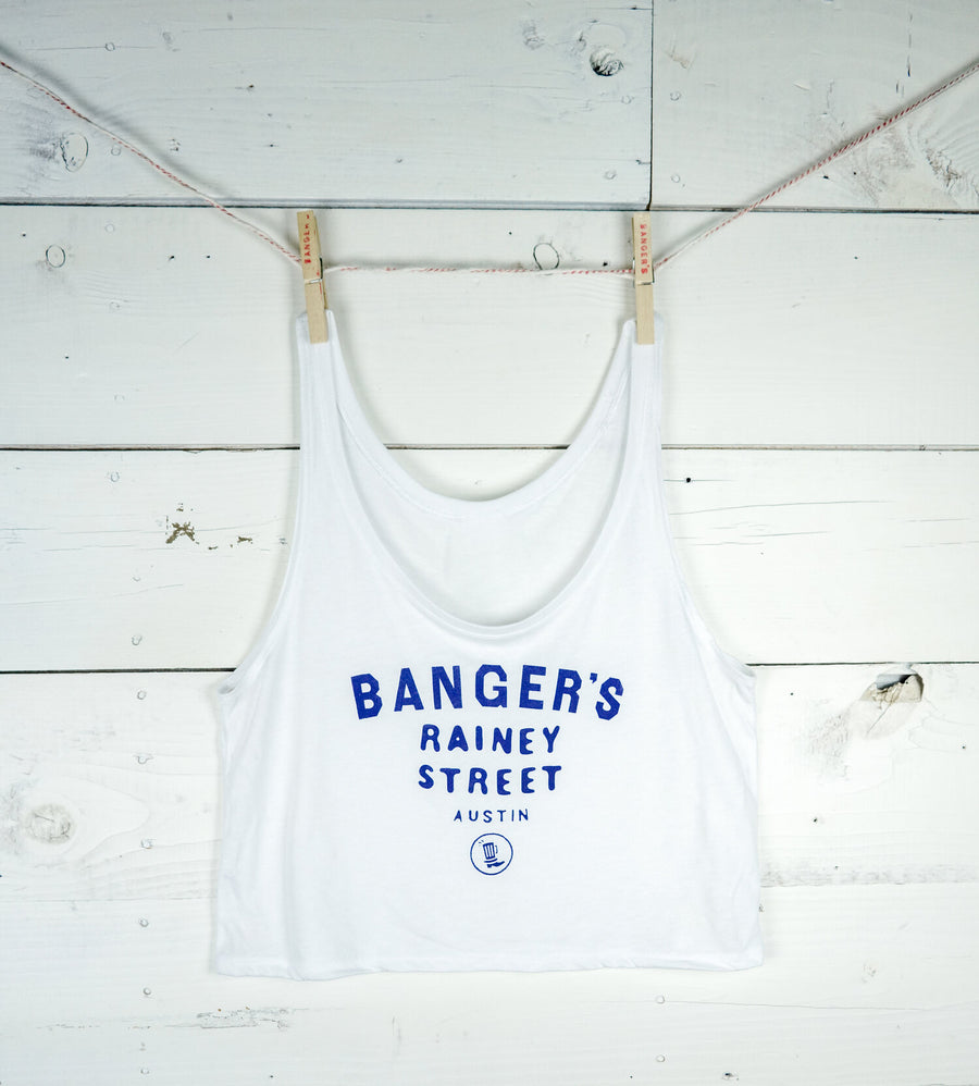 WHITE RAINEY STREET CROP TOP (LIMITED EDITION)