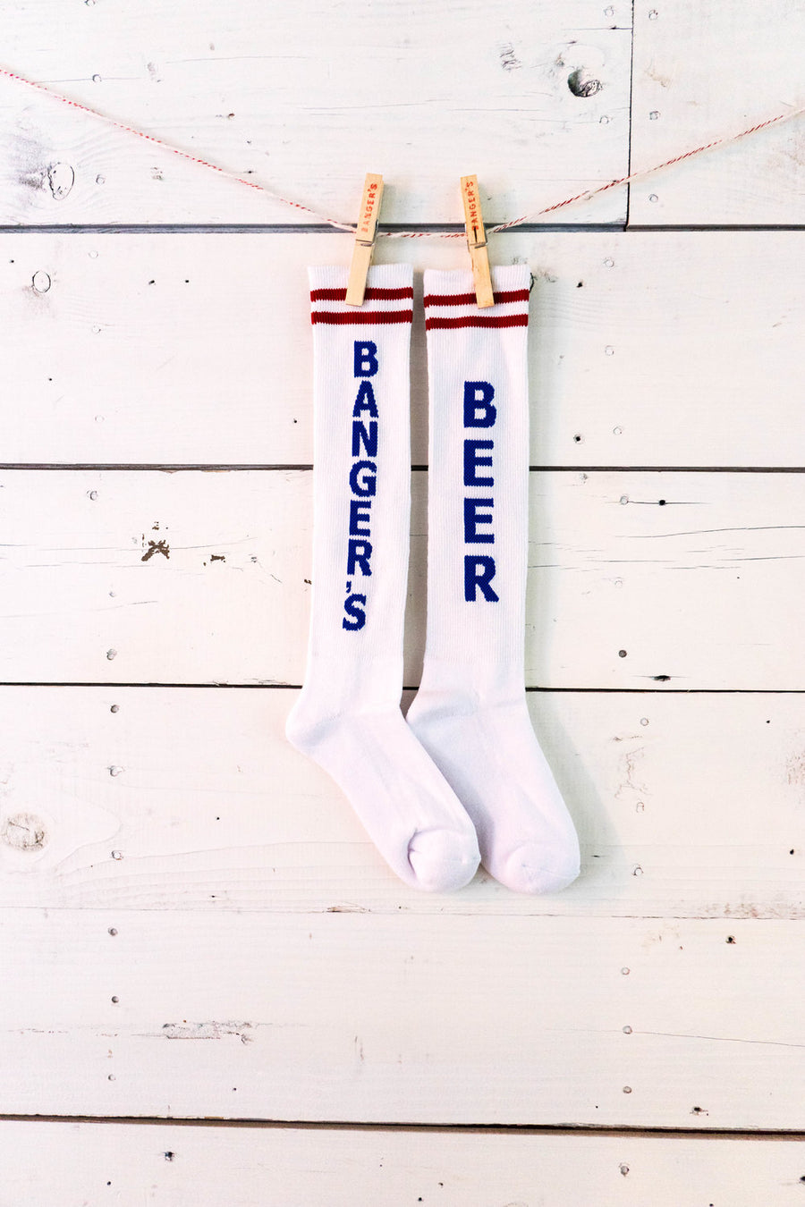 BANGER'S WHITE & BLUE SOCKS