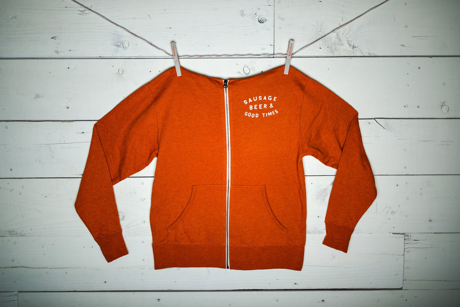 BURNT ORANGE FRENCH TERRY HOODIE