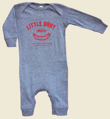 GREY & RED BABY ROMPER