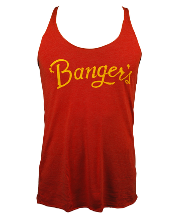 RED/YELLOW LADIES TRI-BLEND JERSEY RACERBACK TANK (LIMITED EDITION)