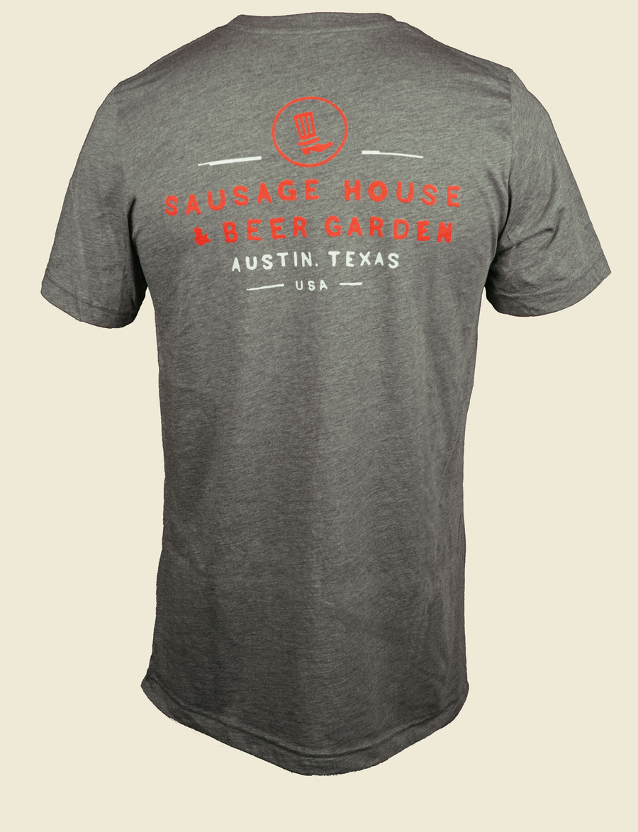 GREY/RED TRI-BLEND T-SHIRT (LIMITED EDITION)