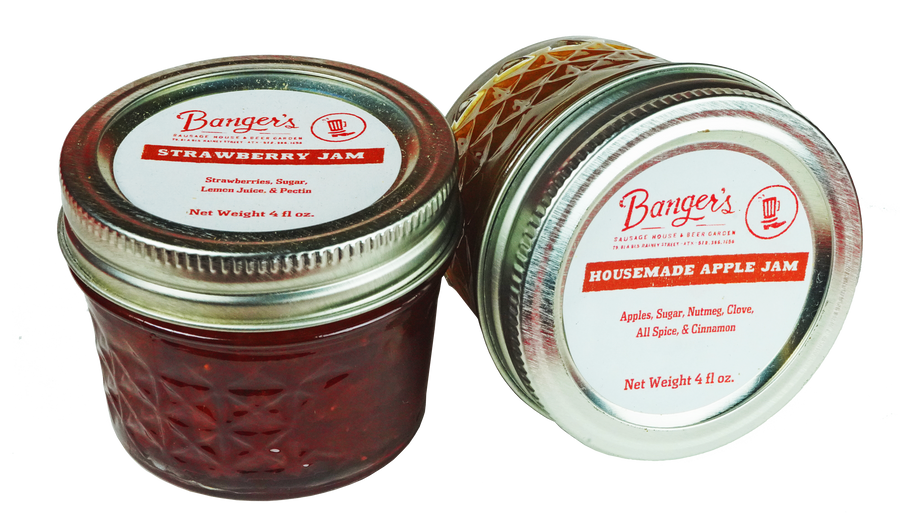 APPLE BUTTER & STRAWBERRY JAM