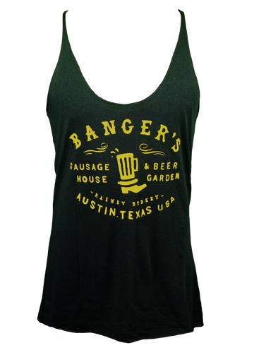 BLACK/YELLOW LADIES TRI-BLEND JERSEY RACERBACK TANK (LIMITED EDITION)