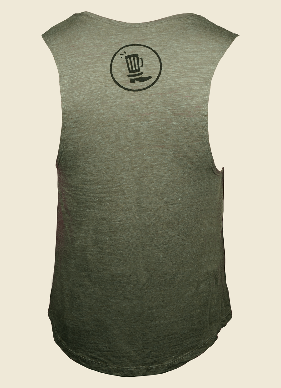Olive Muscle Tee