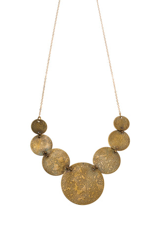 Etched Moons Bib Necklace