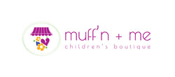 Logo for Muff'n + Me Children's Boutique
