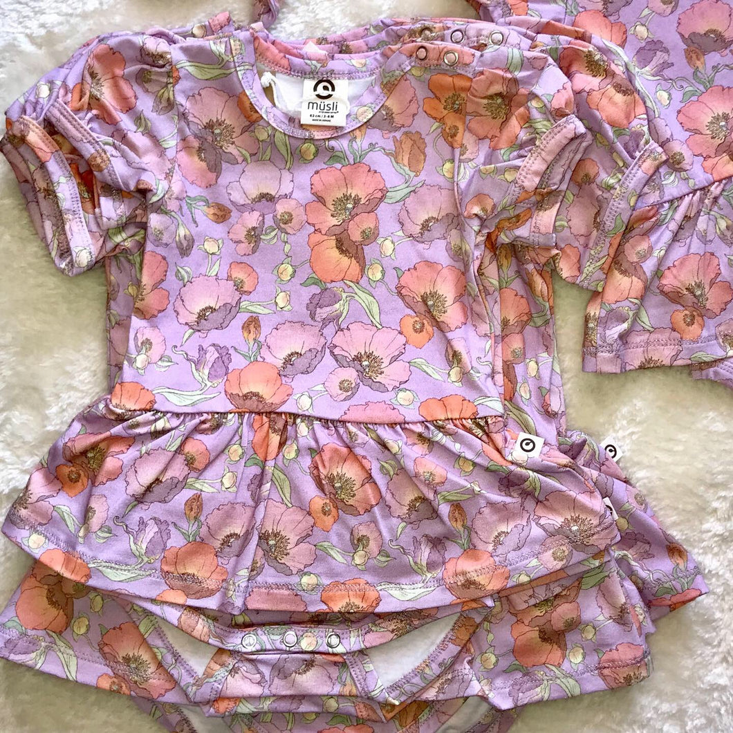 Spicy Flower Skirted Onesie