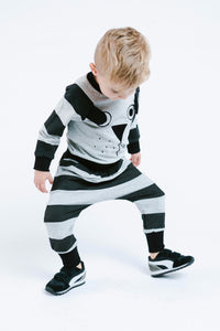 Little Who- Horizontal Striped Pup Face Pants