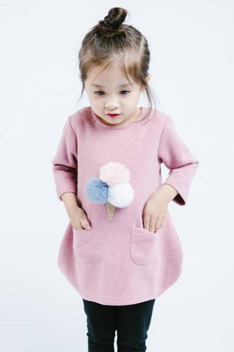 Little Who: Puff Ball Ice Cream Tunic