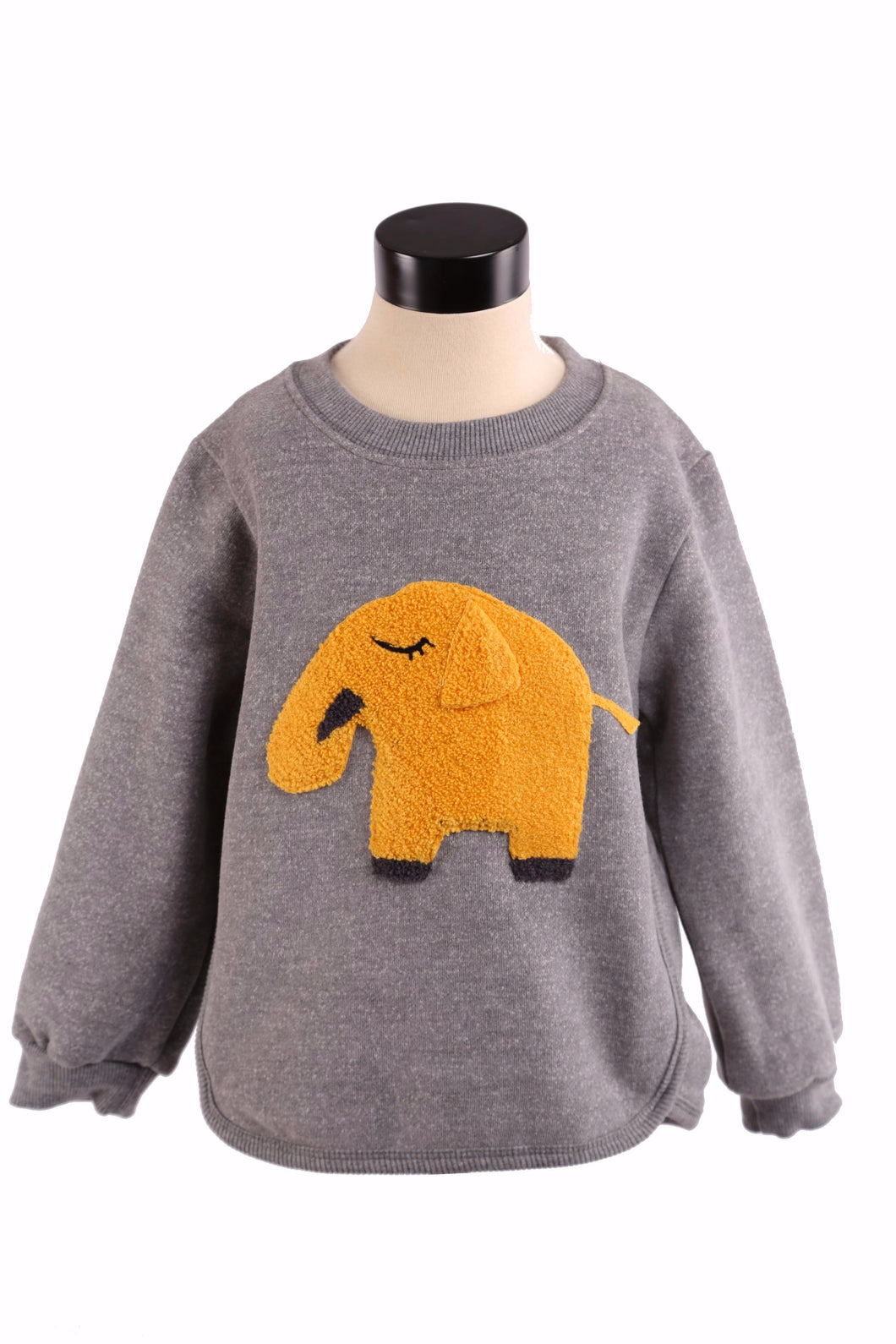 Little Who- Long Sleeve Crew Neck Sweater w/ Elephant Patch