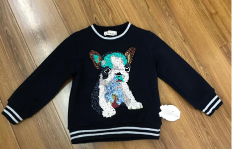 Doe A Dear: Bull Dog Patch Sweater