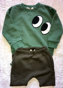 Little Who- Crew Neck Sweater w/Eyes & 3D Tail