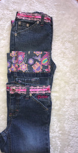 Barbie Cuffed Embroidered Jeans