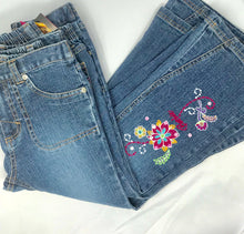 Load image into Gallery viewer, Barbie Flowered Embroidered Flared Jeans