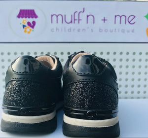 Mayoral Girls Black Glitter Trainers