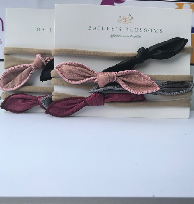 The Knot Leather Bow Headband