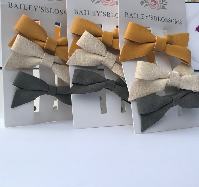 3 Piece Hair Bow Clip Set
