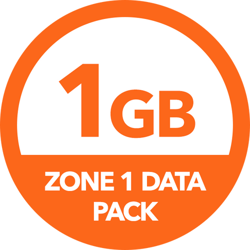 1GB Zone 1 Data Pack - Recharge
