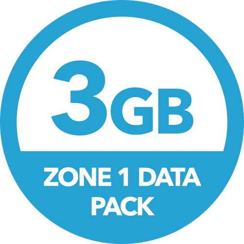 3GB Zone 1 Data Pack - Recharge