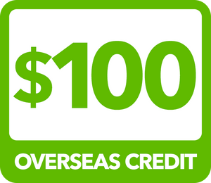 $100 Overseas Credit - Recharge