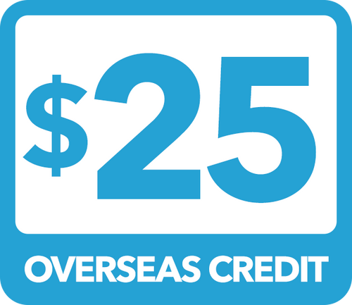 $25 Overseas Credit - Recharge