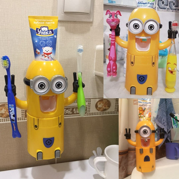 Dispenser Automático de Creme Dental - Minion