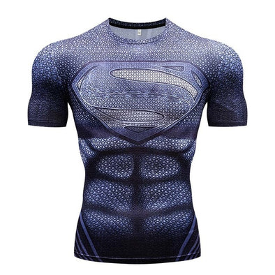 T-Shirt 3D - Superman Traje Preto 2