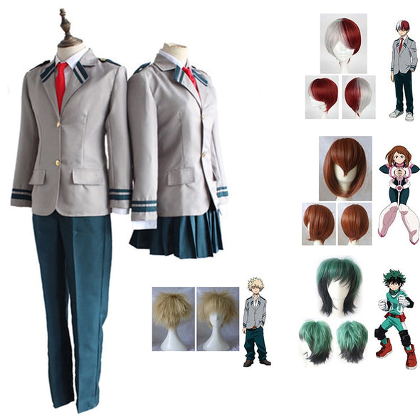 Conjunto Fantasia Cosplay Boku No Hero